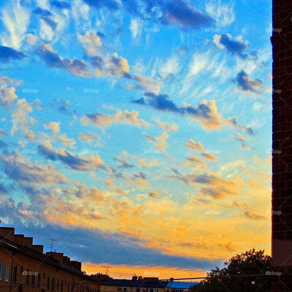 Himmel över Malmö Sweden