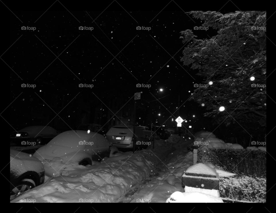 Magical, snowy evening, in the Bronx, NY. I live in Florida now, but I do miss NY, and all the greatness it exudes! Lol!