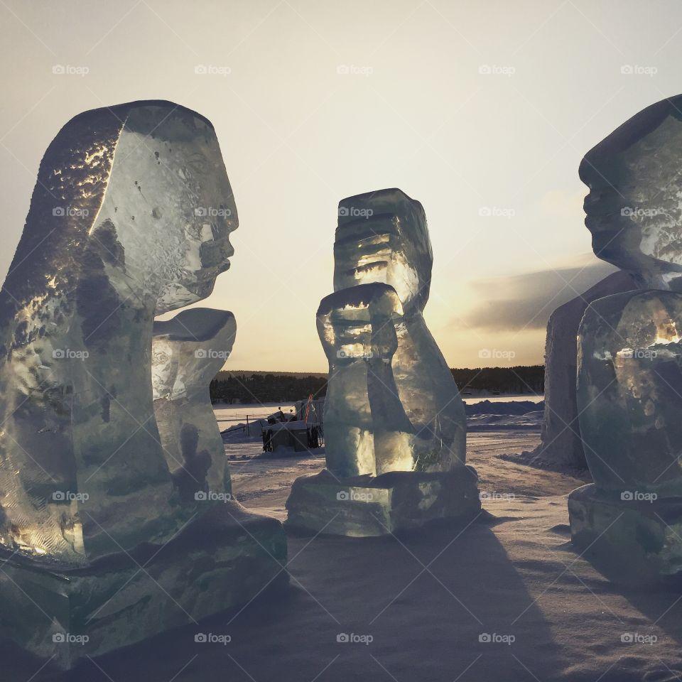 Ice sculptures in Sweden