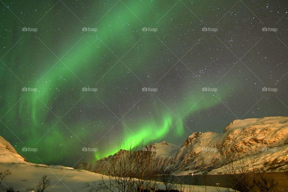 Beautiful dancing Northern lights