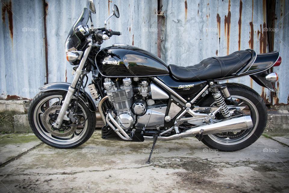 old vintage kawasaki motorcycle