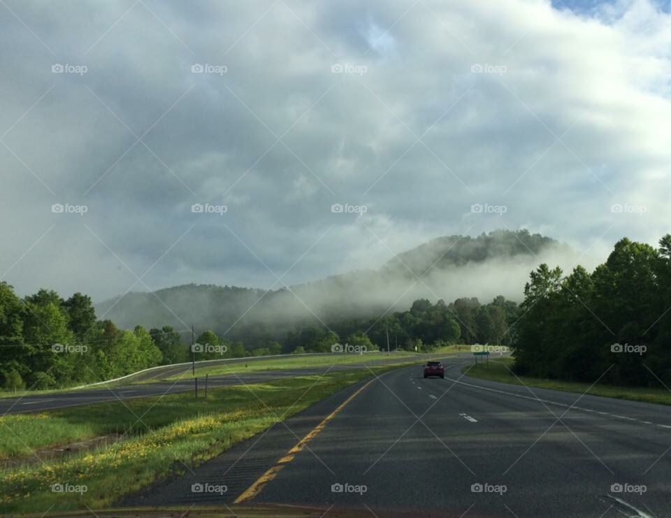 Morning drive through West Virginia mountains