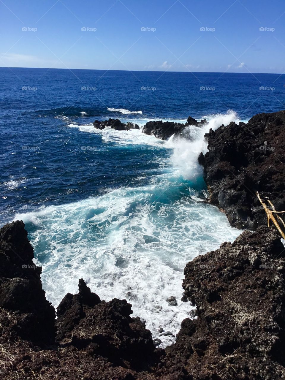 Crashing waves on the Big Island