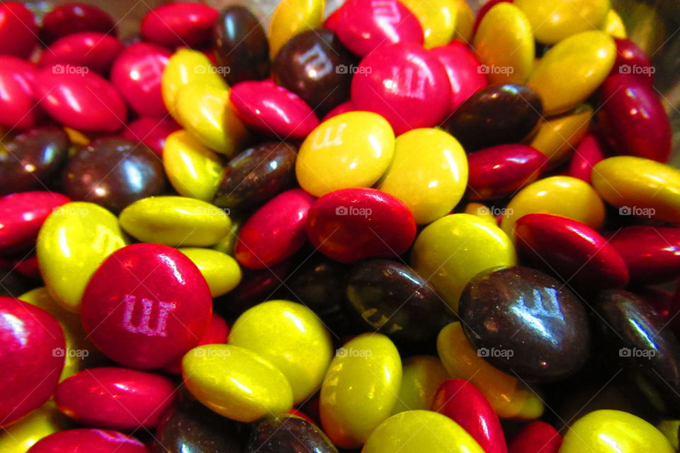 M&M with fall colors