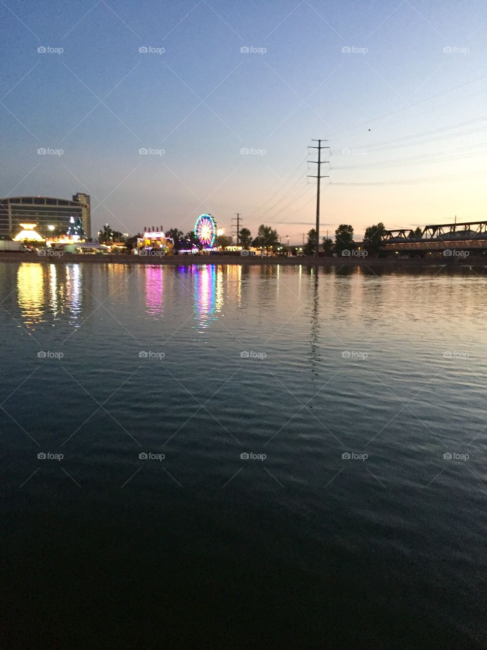 Tempe town lake in August