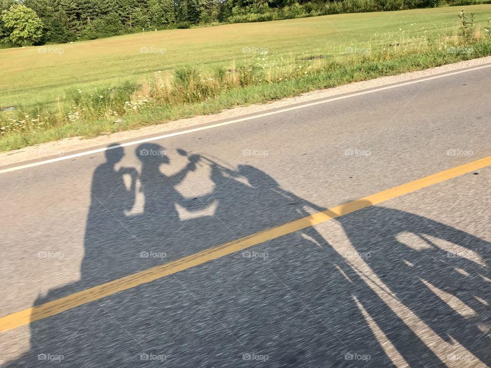 Girls on a bike