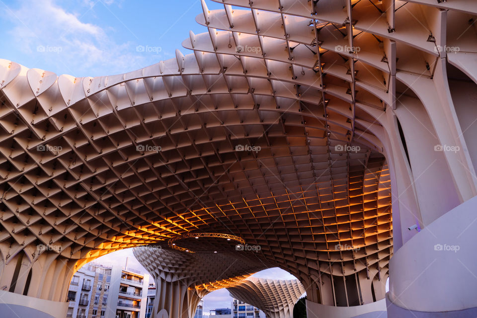 Seville's metrópole umbrellas. A must see local treasure
