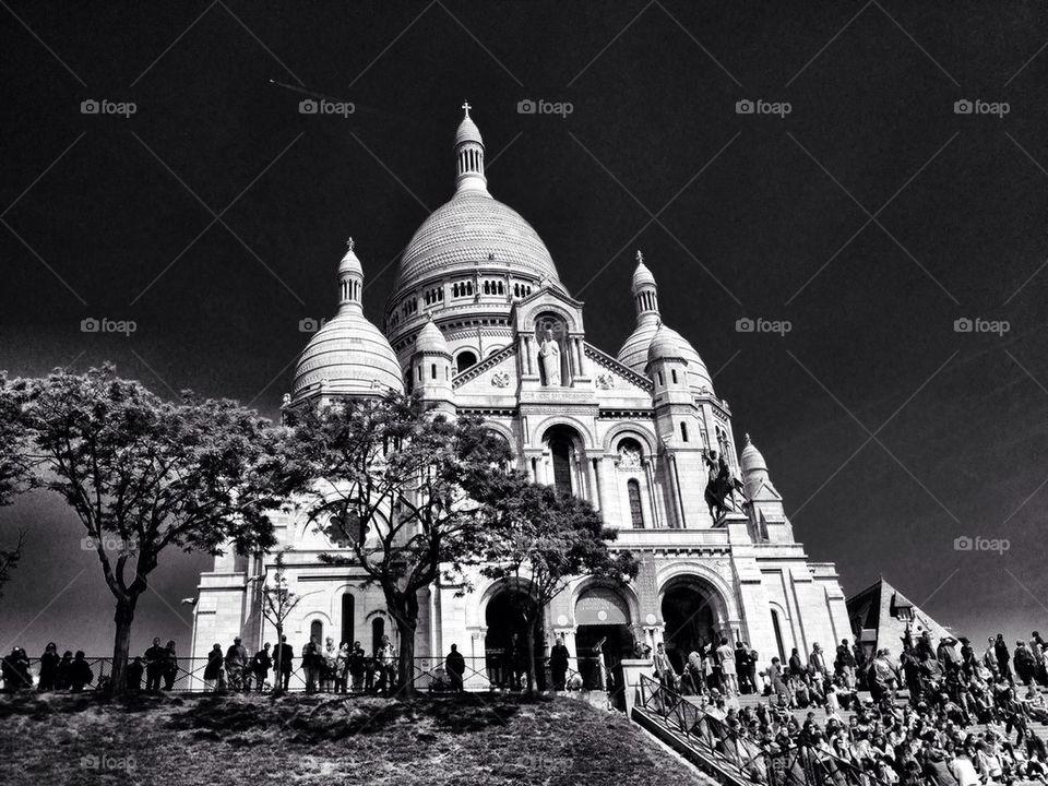 Paris landmark of montmartre church