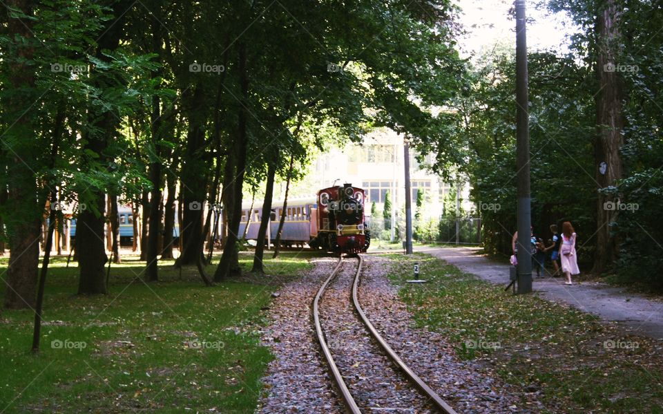 Railway for children in the park