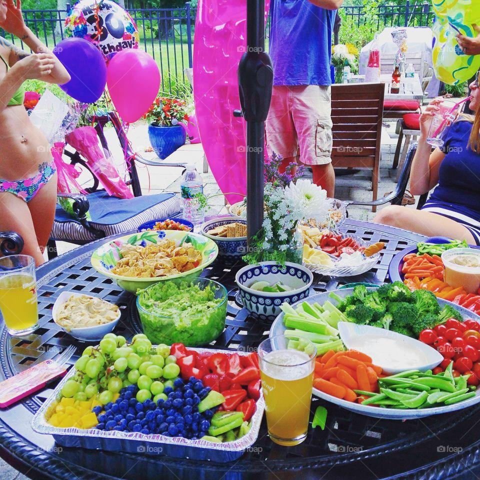 Pool party . Amelia's birthday in Rhode Island