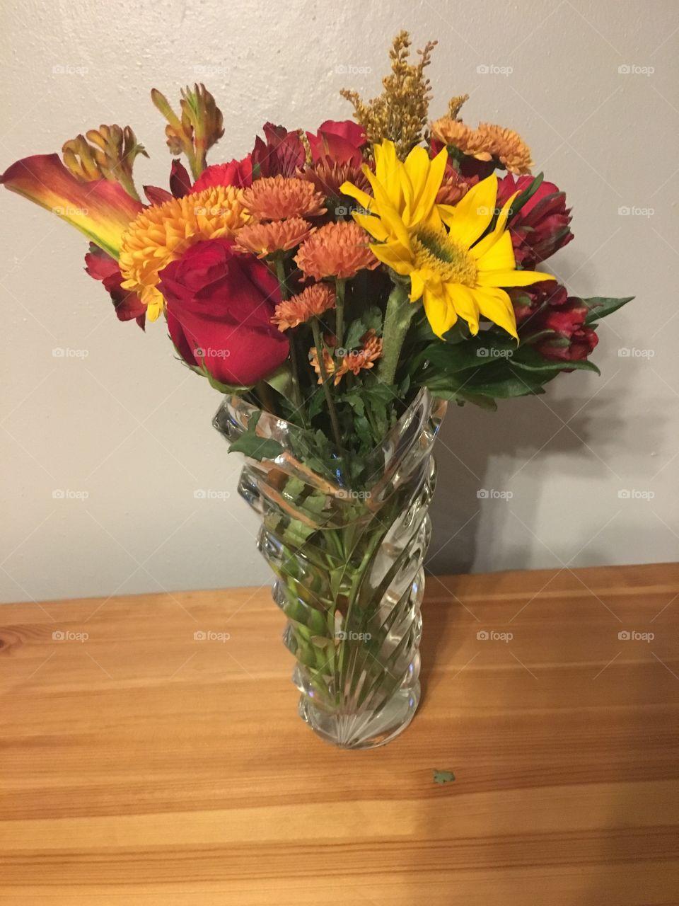 Flowers in case