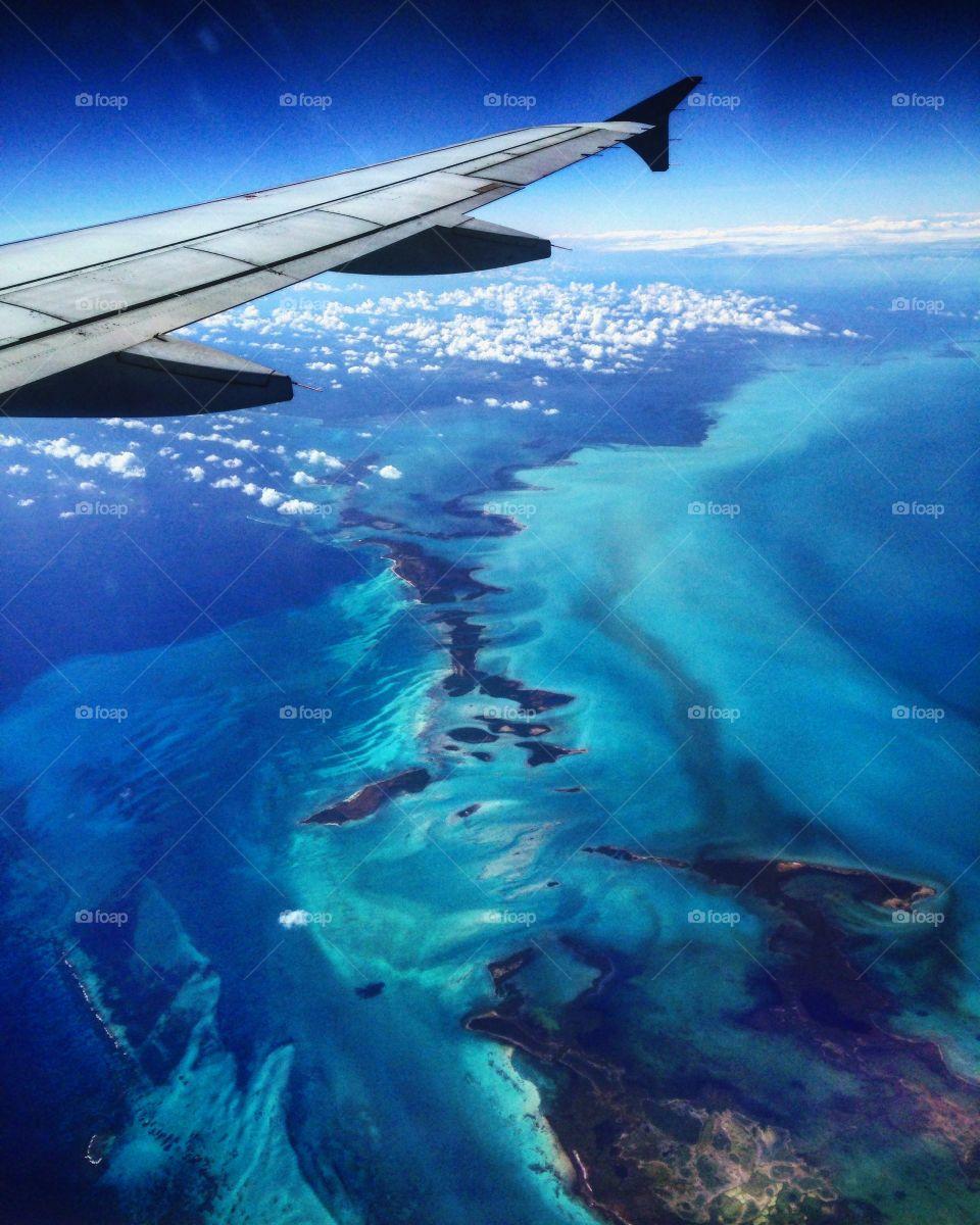Caribbean Ocean views from above