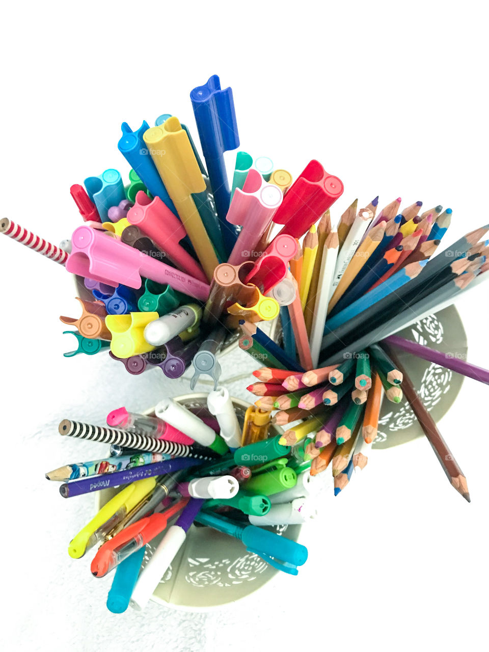 Colorfully pens and pencils