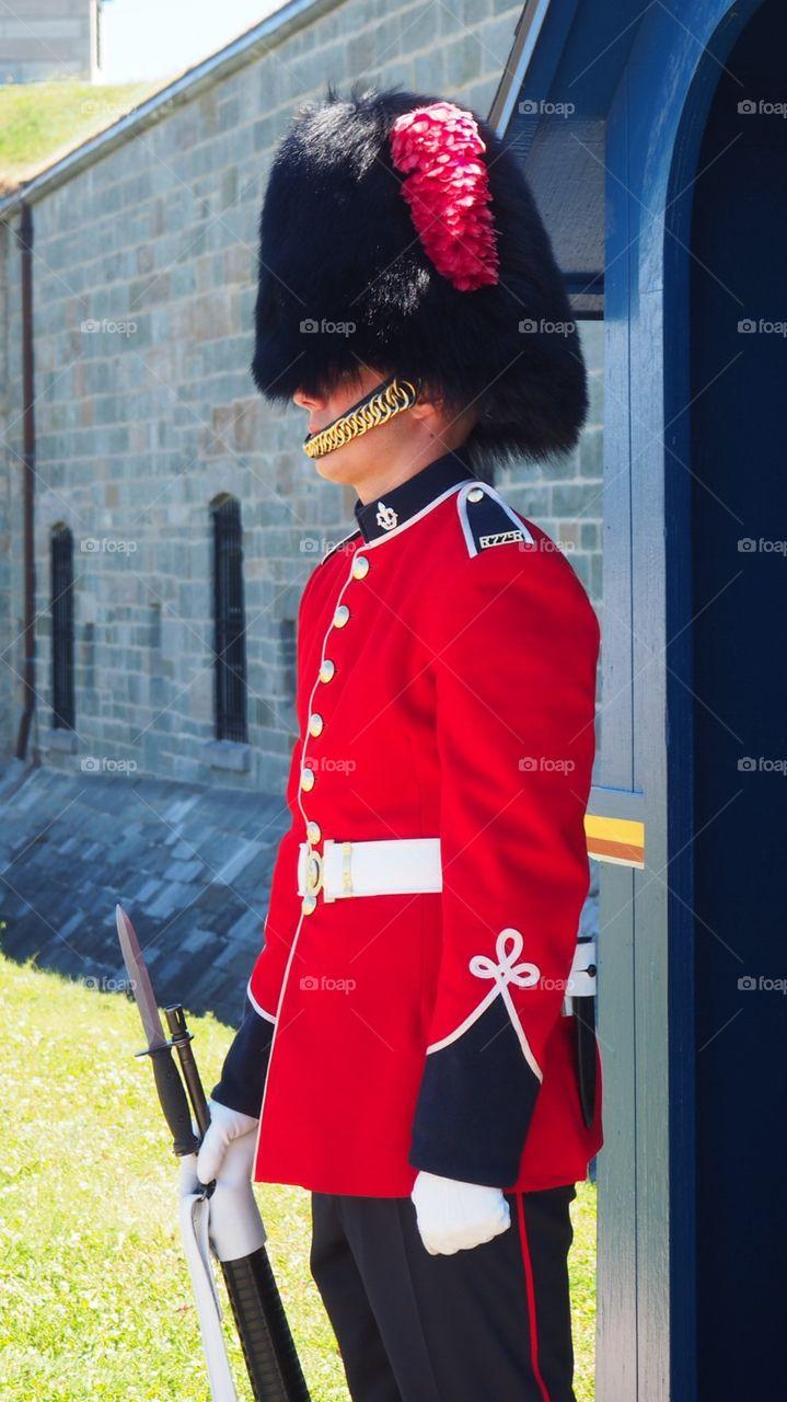 Royal crown guard of honor British