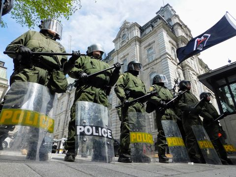 SQ Anti Riot Sqaud - Quebec Provincial Police
