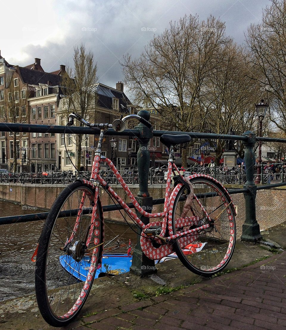 Bike by the canal
