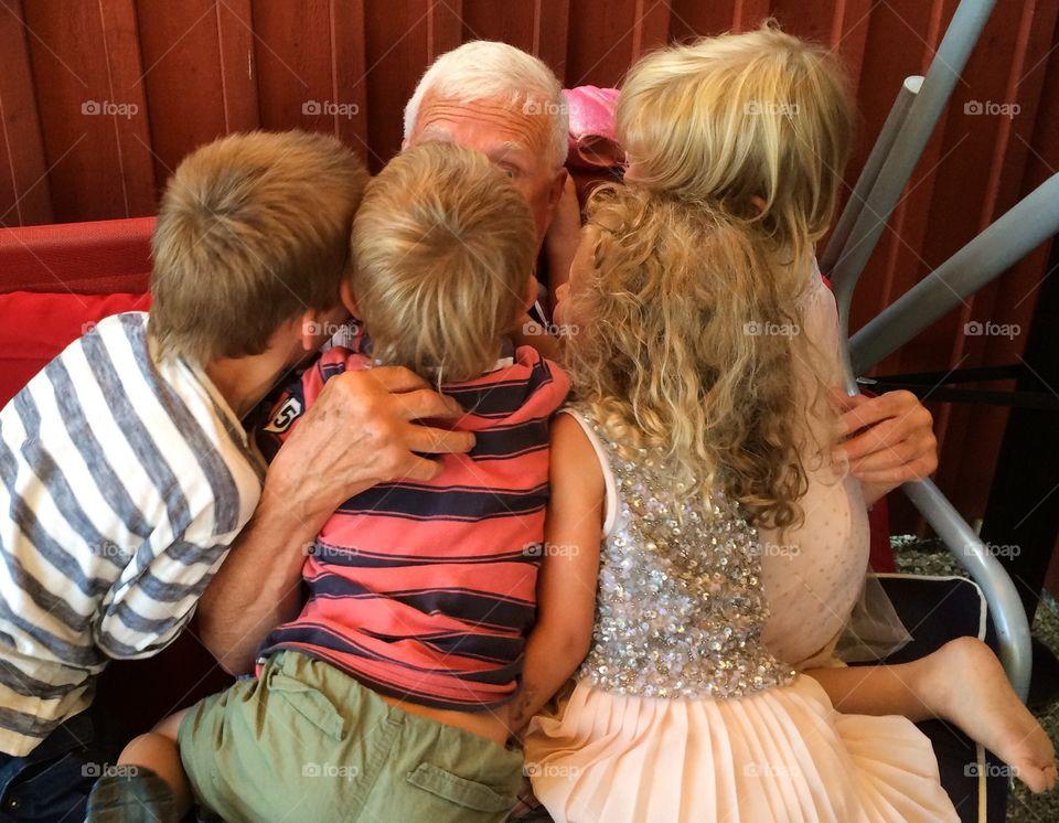 Busy grandpa