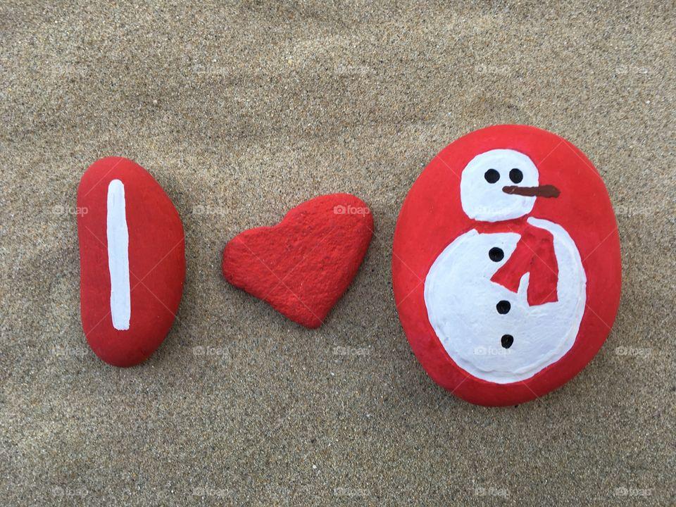 I love my sweet snowman