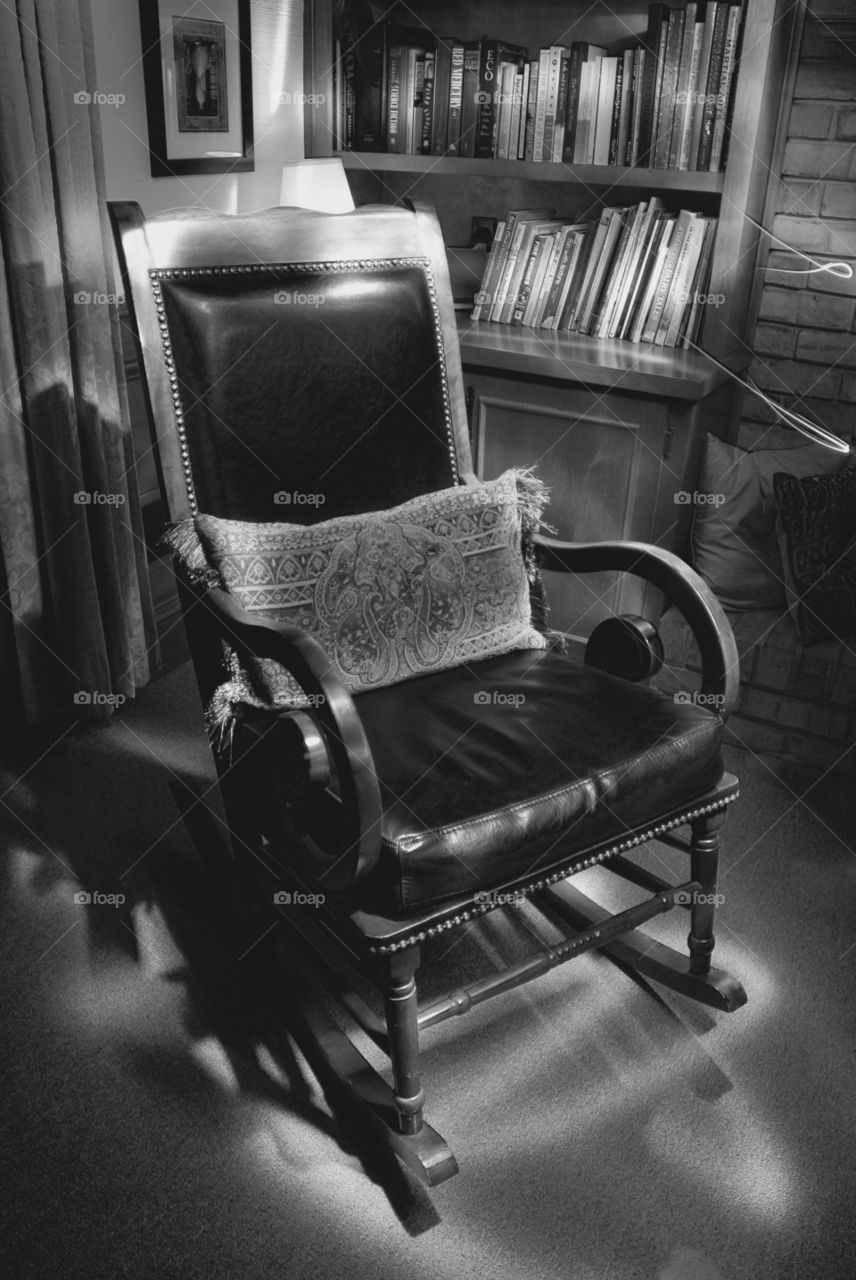 Sitting chair in library