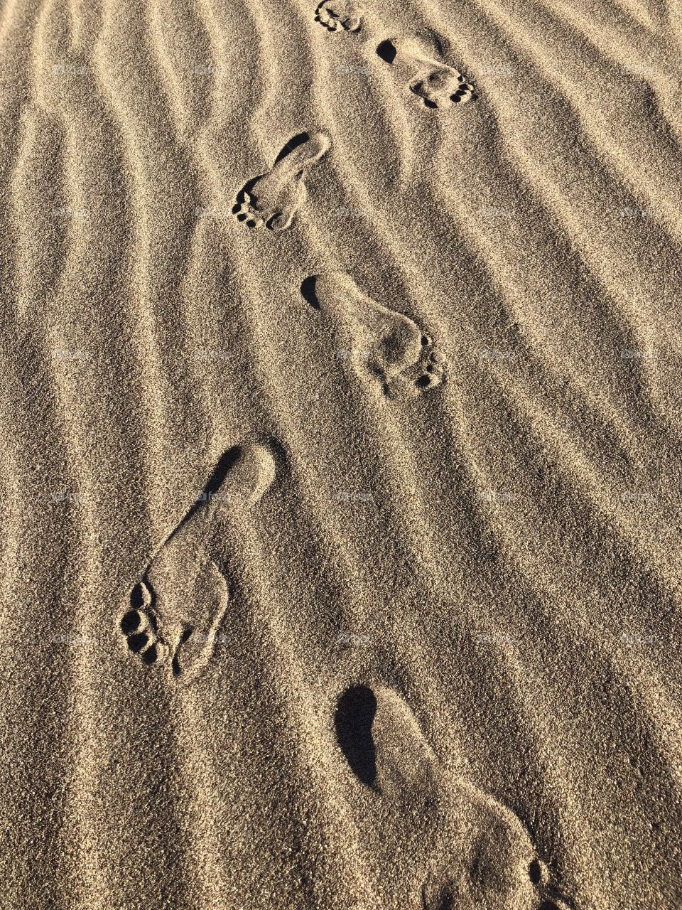 Footprints are what he have to show us the path we've been on and proves that with every step we take we get further in life creating a greater journey.