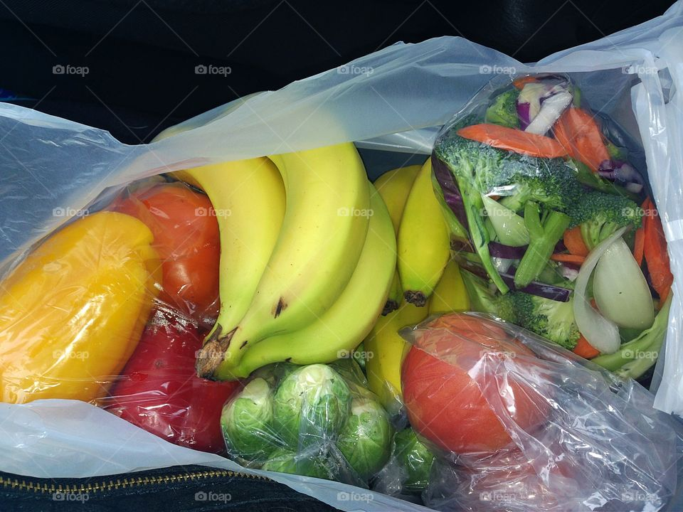 Home from the market...fresh produce in a bag