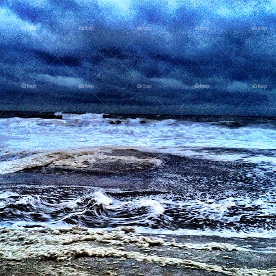 beach ocean storm new by wfullerton