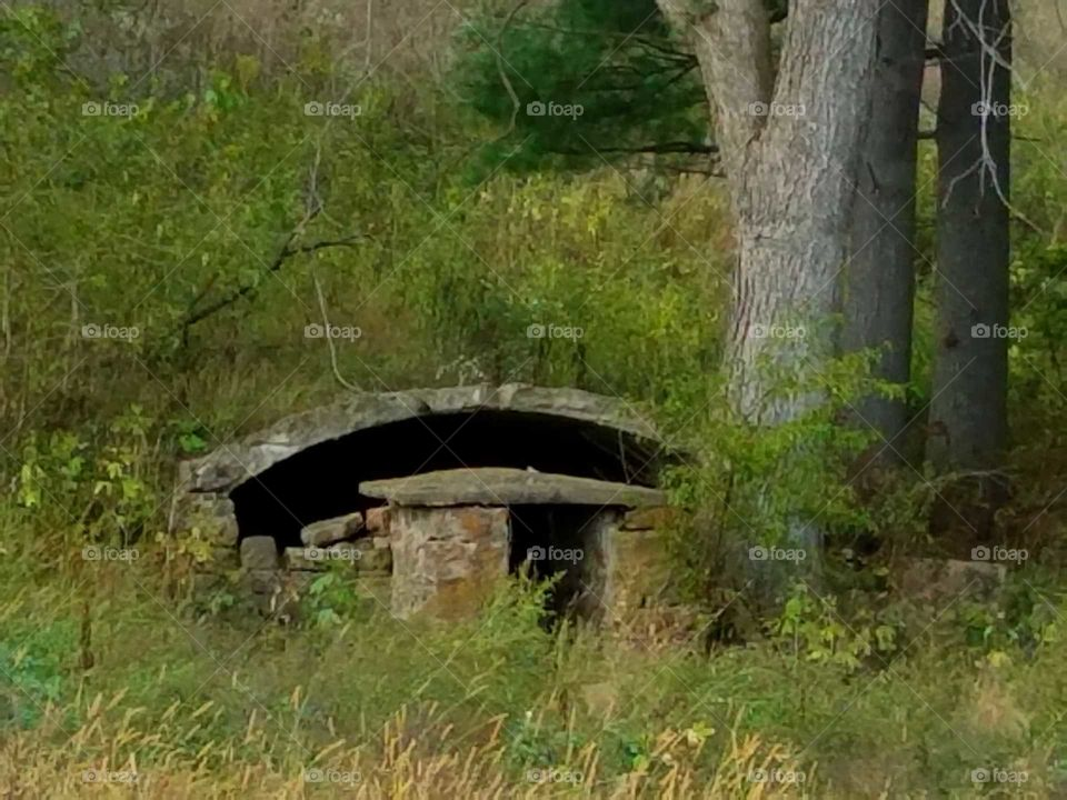 Driving the back roads seeing Rhoda root cellar that was built many years ago.
