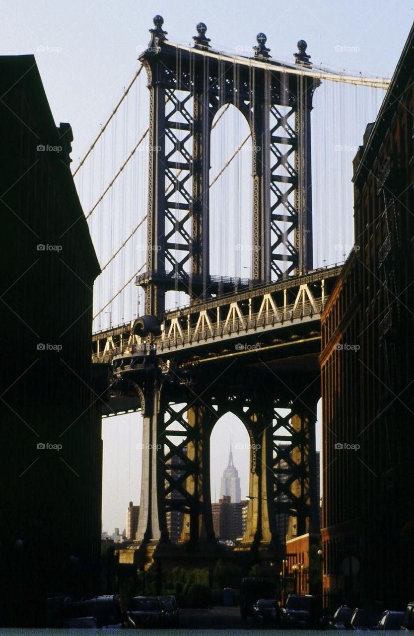 Manhattan Bridge, Empire State Building, Brooklyn
