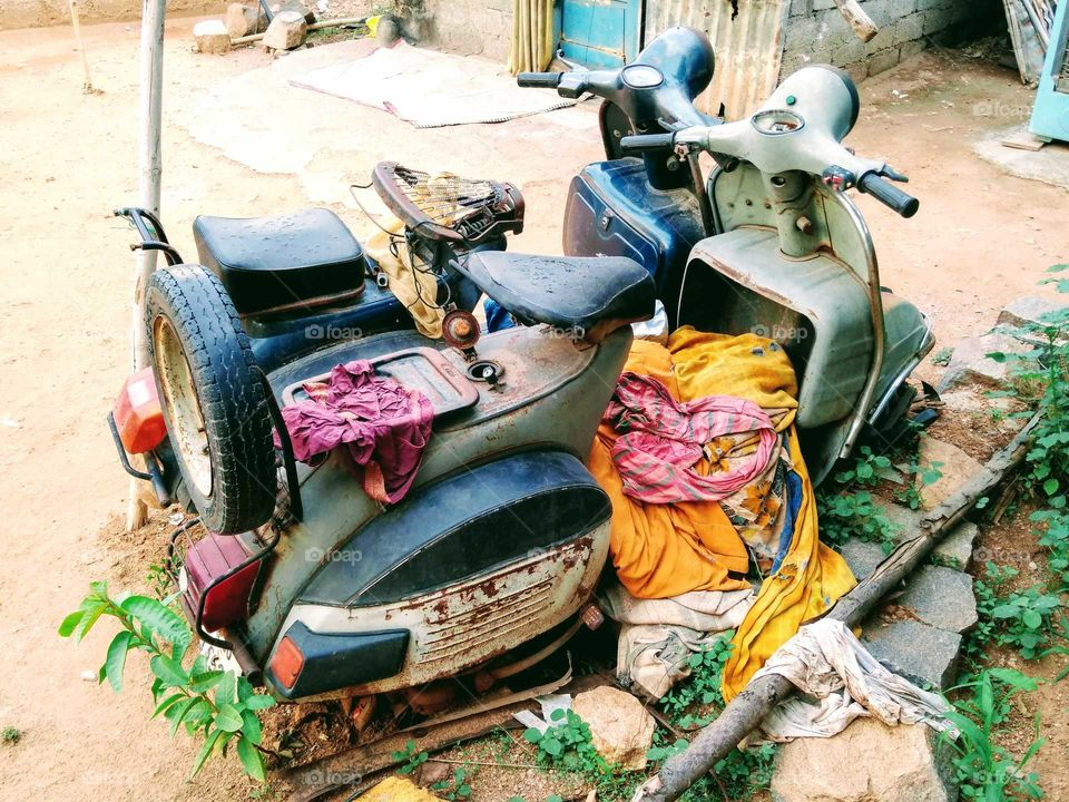 old Indian scooters