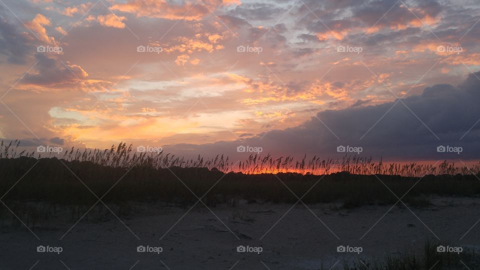 Sunset over the dunes