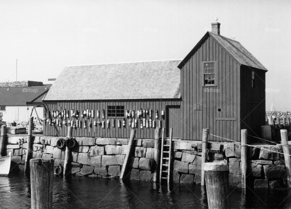 Motif #1 Rockport, Massachuset. Motif #1 fishing shack on Bears kin Neck, Rockport, Massachusetts