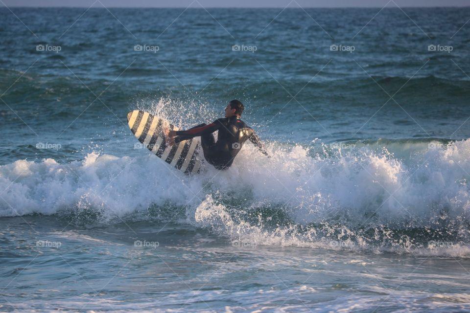 Sunset surfing, Huntington Beach, CA