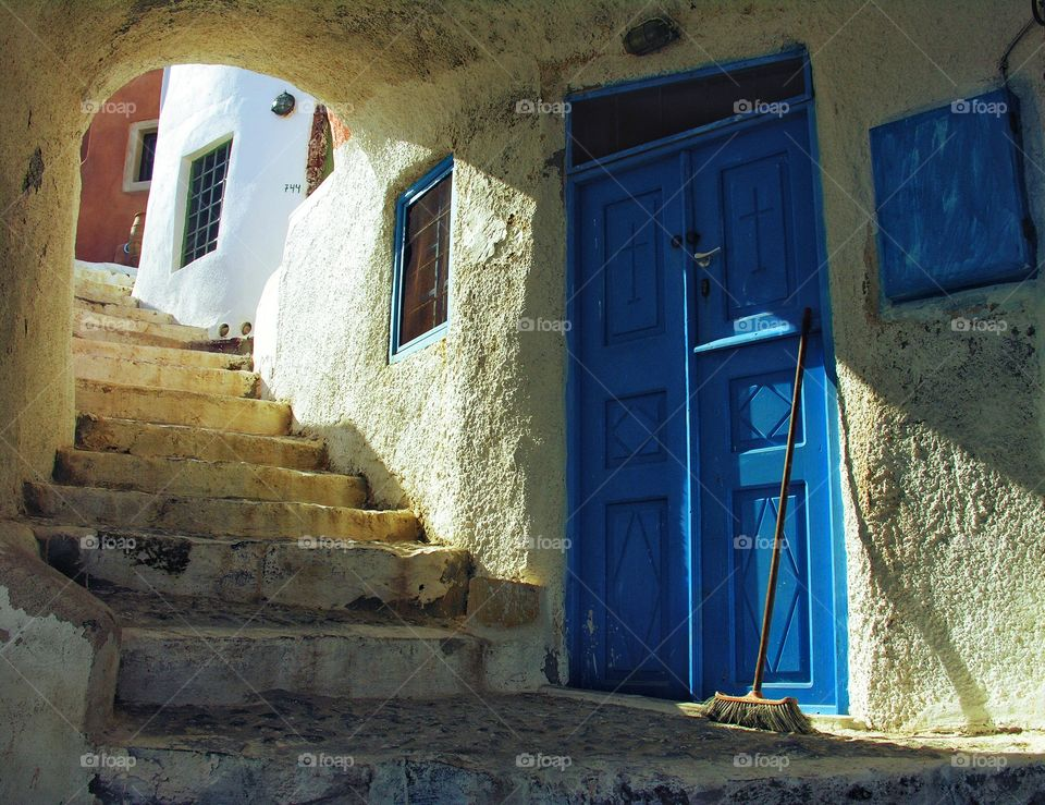 Door and staircase