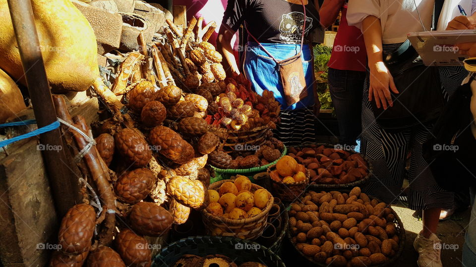 This picture was taken in Ver-o-peso, a tourist spot where I live (Belém Pa, Brazil). Is a great market, and is known worldwide by gastronomy for its great variety of fruits, vegetables, spices and more. If you came here you definitely have to go.