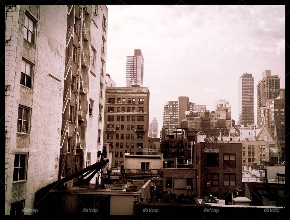 Upper West Side skyline view