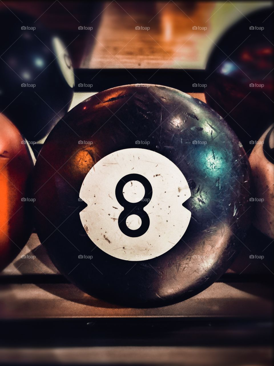 Black number 8 bowling ball
