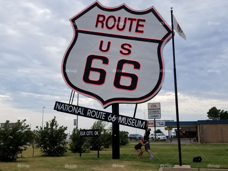 a piece of famous Route 66
