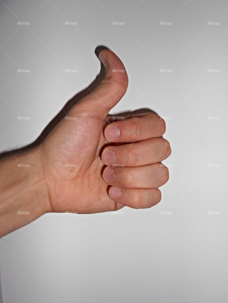 hand fingers up thumb by iDavidHD