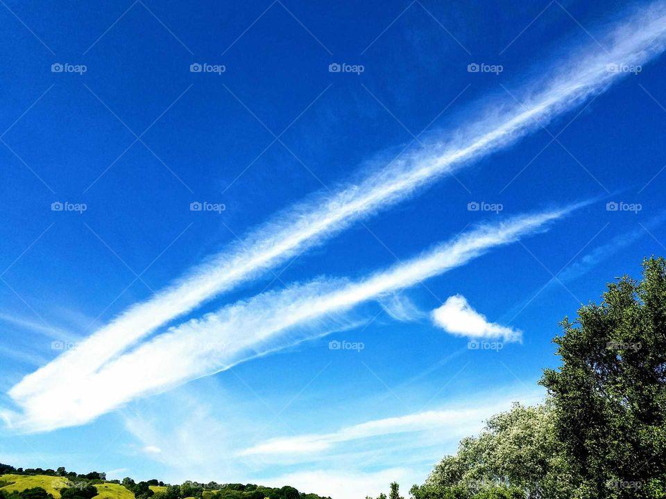 Art in the blue sky