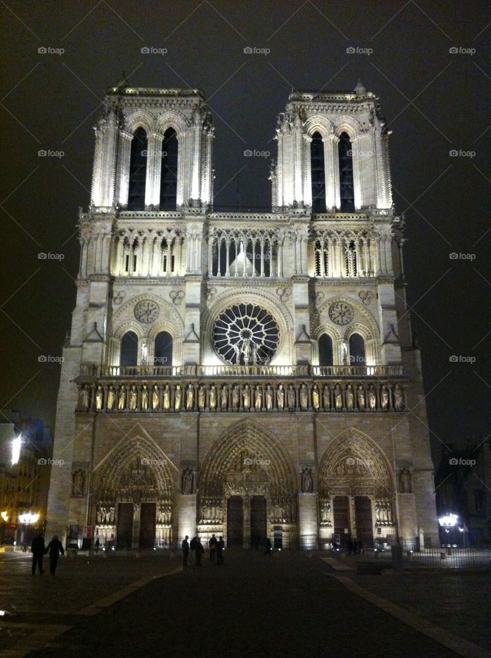 Paris, by night. Notre Dame