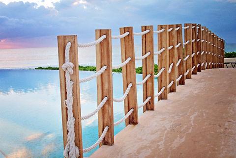 Bridge, Vacation, Mexico, Beach, Pool Resort