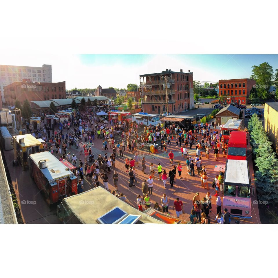 Food Truck Tuesday. Every Tuesday during the summer, Larkin Square in Buffalo, New York holds Food Truck Tuesday