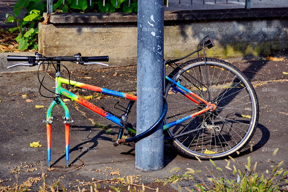colored bycicle