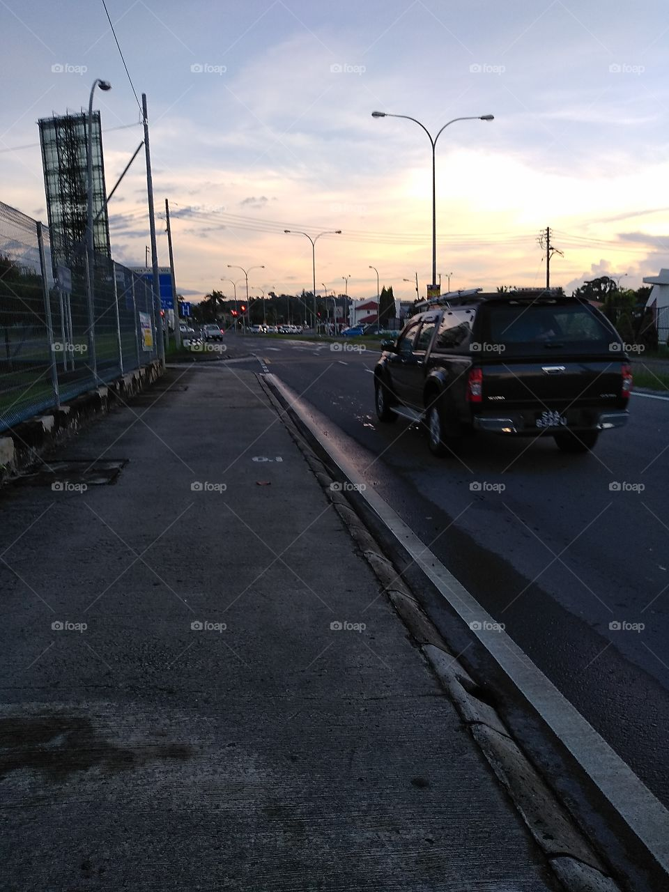Jalan Damai and Jalan Tuaran, Likas, Kota Kinabalu, Sabah, Malaysia