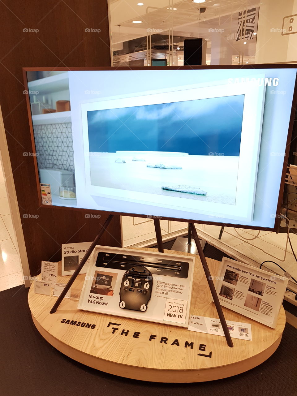 Samsung The Frame TV installation at Peter Jones Sloane square with Copper bezel