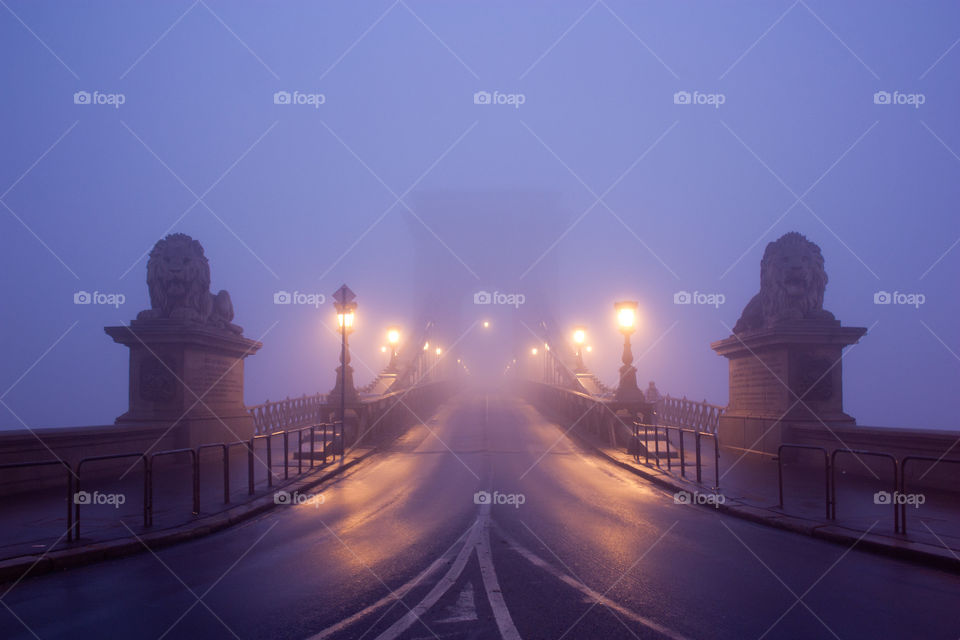 A foggy early morning in Budapest