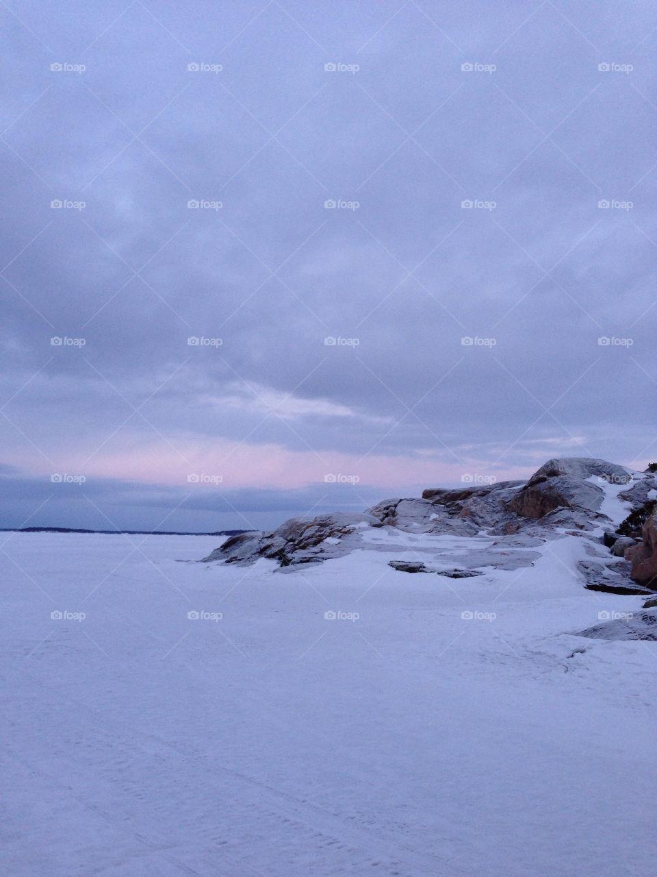 Beautiful Morning Winter Walk