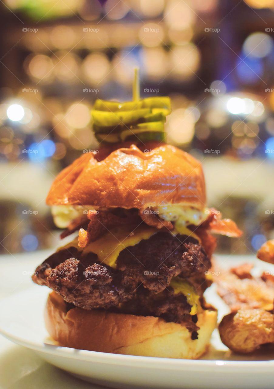 Amazing gourmet burger from Bar Margot in Atlanta