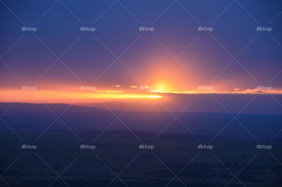 sunrise scenery africa kenya by hunter_dude99