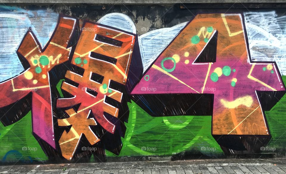 Graffiti Street Art on Wall in Baoan - Shenzhen, China